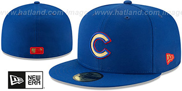 Cubs GOLD METALLIC STOPPER Royal Fitted Hat by New Era