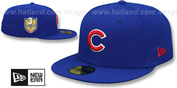 Cubs 'GOLDEN-HIT' Royal Fitted Hat by New Era