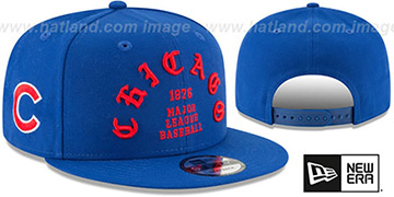 Cubs GOTHIC-ARCH SNAPBACK Royal Hat by New Era