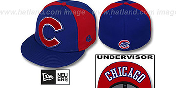 Cubs 'LETTERMAN' Royal-Red Fitted Hat by New Era