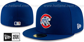 Cubs METAL-N-THREAD Royal Fitted Hat by New Era