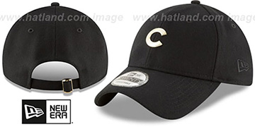 Cubs MINI GOLD METAL-BADGE STRAPBACK Black Hat by New Era