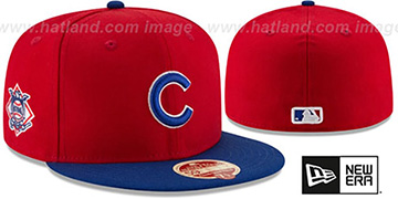 Cubs 'MLB WOOL-STANDARD' Red-Royal Fitted Hat by New Era