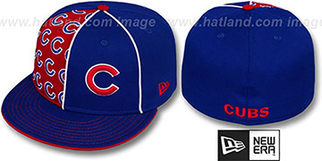 Cubs MULTIPLY Royal-Red Fitted Hat by New Era