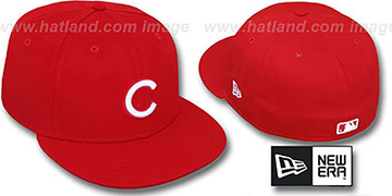Cubs 'TEAM BASIC' Red-White Fitted Hat by New Era