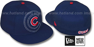 Cubs SHADOW BIG-ONE Navy Fitted Hat by New Era