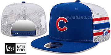 Cubs SIDE-STRIPE TRUCKER SNAPBACK Royal Hat by New Era