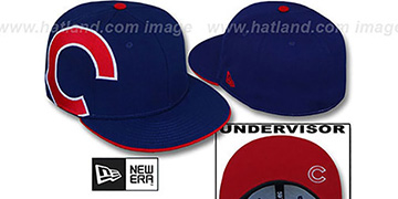 Cubs 'SIDEWINGER' Royal Fitted Hat by New Era
