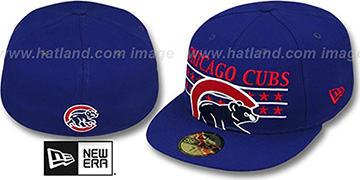 Cubs 'STAR STUDDED' Royal Fitted Hat by New Era
