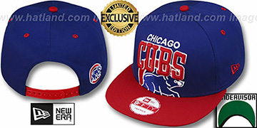 Cubs 'SUPER-LOGO ARCH SNAPBACK' Royal-Red Hat by New Era