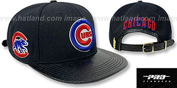 Cubs 'TEAM-BASIC STRAPBACK' Black Hat by Pro Standard
