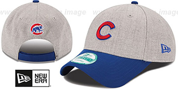 Cubs THE-LEAGUE HEATHER STRAPBACK Grey-Royal Hat by New Era