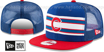 Cubs 'THROWBACK-STRIPE SNAPBACK' Royal-Red Hat by New Era
