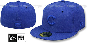 Cubs 'TOTAL TONE' Heather Royal Fitted Hat by New Era
