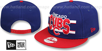 Cubs 'WORDSTRIPE SNAPBACK' Royal-Red Hat by New Era