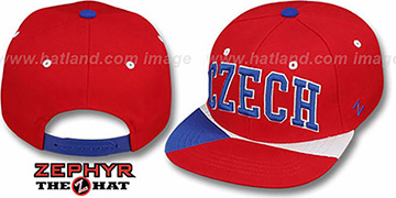 Czech 'SUPERSTAR SNAPBACK' Red Hat by Zephyr