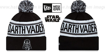 Darth Vader BIGGEST FAN Black-White Knit Beanie Hat by New Era