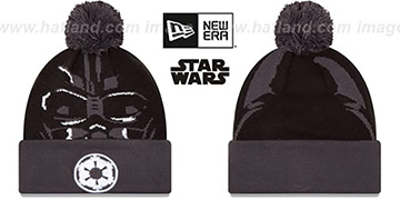 Darth Vader 'GALLACTIC BIGGIE' Black-Grey Knit Beanie Hat by New Era