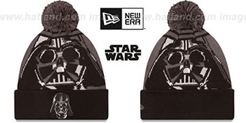 Darth Vader 'LOGO WHIZ' Grey-Black Knit Beanie Hat by New Era