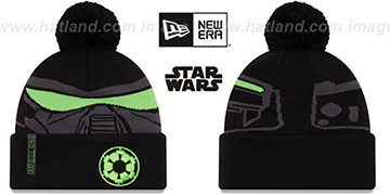 Death Trooper 'GALLACTIC BIGGIE' Black-Grey Knit Beanie Hat by New Era