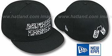 Detroit Dog Tags 'ASPHALT REGIME' Black Fitted Hat by New Era