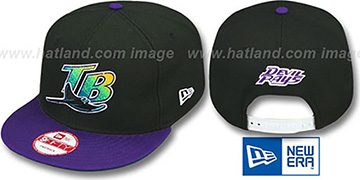 Devil Rays COOP 'TEAM-BASIC SNAPBACK' Black-Purple Hat by New Era