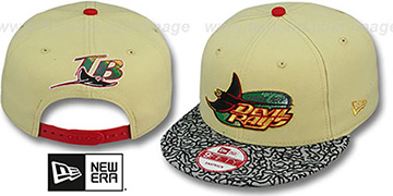 Devil Rays 'ELEPHANT BRIM SNAPBACK' Tan Hat by New Era