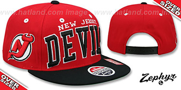 Devils '2T SUPER-ARCH OVER-SIZED SNAPBACK' Red-Black Hat by Zephyr