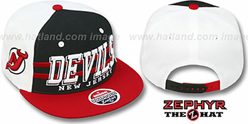 Devils '2T SUPERSONIC SNAPBACK' Black-Red Hat by Zephyr