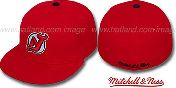 Devils 'CLASSIC THROWBACK' Red Fitted Hat by Mitchell & Ness