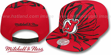 Devils 'EARTHQUAKE SNAPBACK' Red Hat by Mitchell & Ness