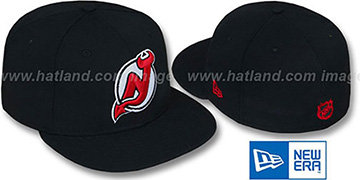 Devils 'TEAM-BASIC' Black Fitted Hat by New Era