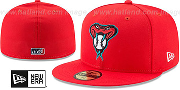 Diamondbacks 2017 MLB LITTLE-LEAGUE Red Fitted Hat by New Era