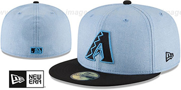 Diamondbacks 2018 FATHERS DAY Sky-Black Fitted Hat by New Era