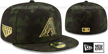 Diamondbacks 2019 ARMED FORCES STARS N STRIPES Hat by New Era