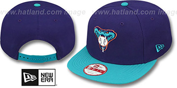 Diamondbacks 'BITD SNAPBACK' Purple-Teal Hat by New Era