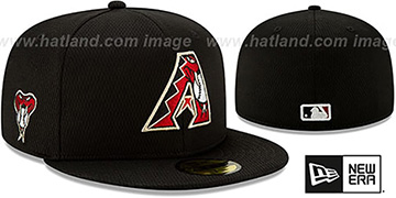 Diamondbacks DASHMARK BP Black Fitted Hat by New Era