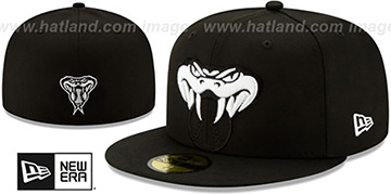 Diamondbacks LOGO ELEMENTS Black-White Fitted Hat by New Era