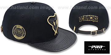 Diamondbacks METALLIC POP STRAPBACK Black Hat by Pro Standard