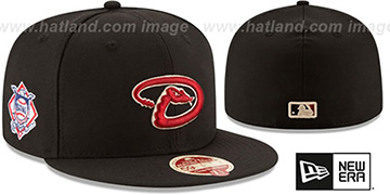 Diamondbacks MLB WOOL-STANDARD Black Fitted Hat by New Era