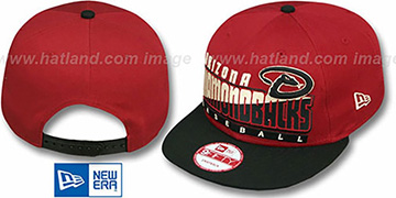 Diamondbacks SLICE-N-DICE SNAPBACK Brick-Black Hat by New Era