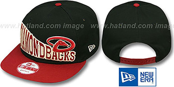 Diamondbacks STOKED SNAPBACK Black-Brick Hat by New Era