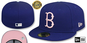 Dodgers 1939 COOPERSTOWN PINK LOGO BOTTOM Fitted Hat by New Era
