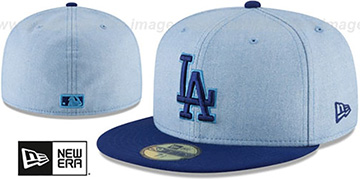 Dodgers 2018 FATHERS DAY Sky-Royal Fitted Hat by New Era
