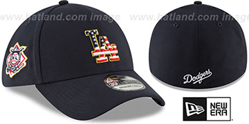 Dodgers '2018 JULY 4TH STARS N STRIPES FLEX' Navy Hat by New Era