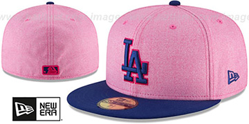 Dodgers 2018 MOTHERS DAY Pink-Royal Fitted Hat by New Era