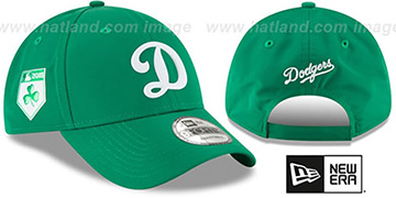 Dodgers 2018 ST PATRICKS DAY 940 STRAPBACK Hat by New Era