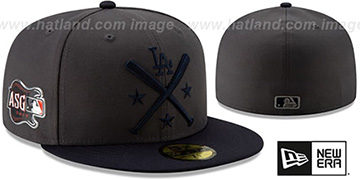 Dodgers 2019 MLB ALL-STAR WORKOUT Grey-Navy Fitted Hat by New Era