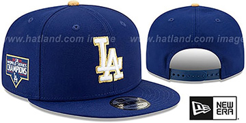 Dodgers 2020 WORLD SERIES CHAMIPONS GOLD SNAPBACK Royal Hat by New Era