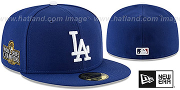 Dodgers 2020 WORLD SERIES CHAMPIONS GAME Fitted Hat by New Era